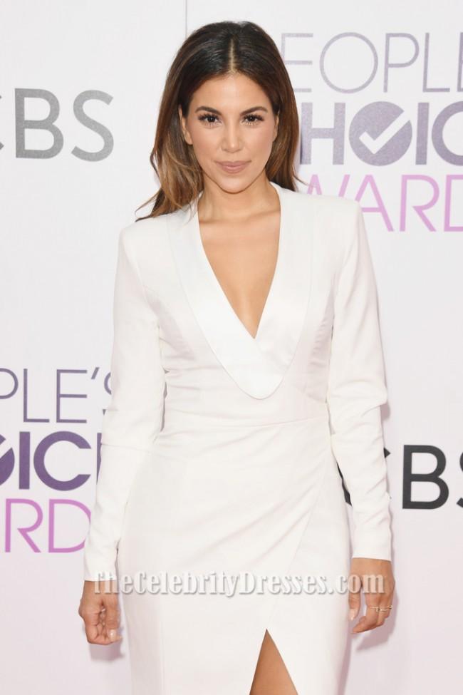 Liz Hernandez Peoples Choice Awards 2017 White Long Sleeve Formal Dress