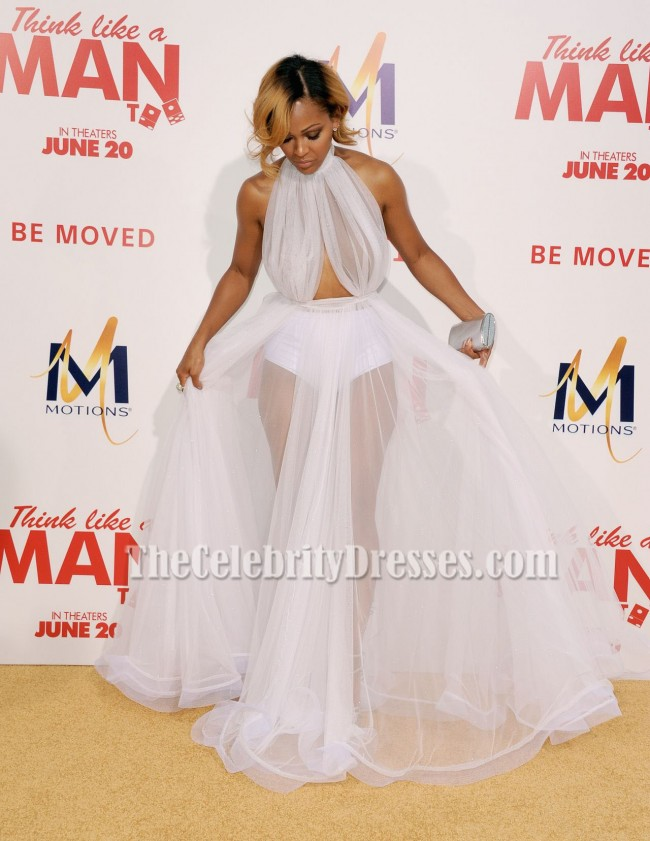 Meagan Good See Through Prom Dress \'Think Like A Man Too\' LA ...