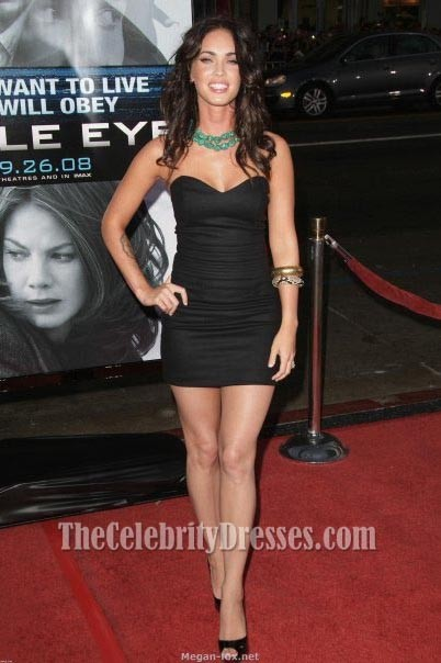 Megan Fox Little Black Dress Eagle Eye Premiere Red Carpet