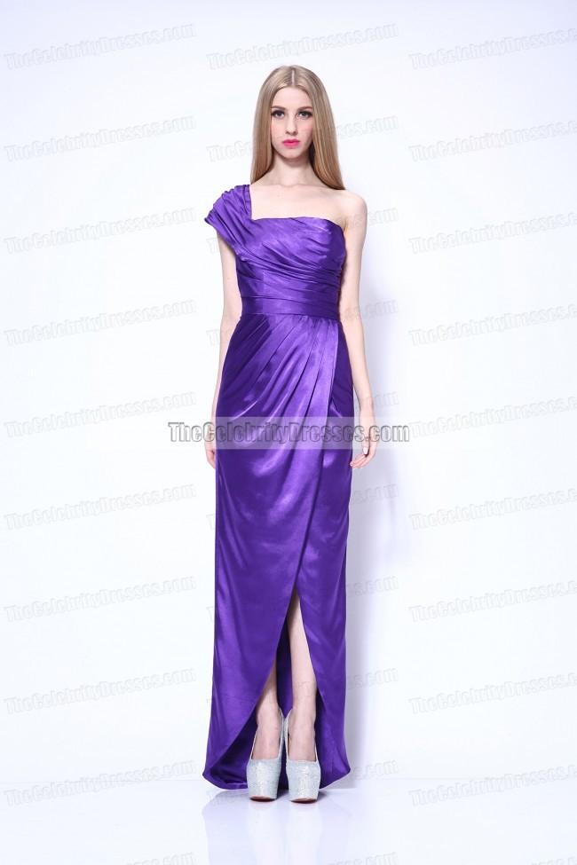 Celebrity Dresses Megan Fox Sexy Purple Evening Dress