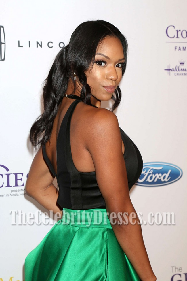 Michelle Mitchenor Black And Green Evening Dress 41st ...