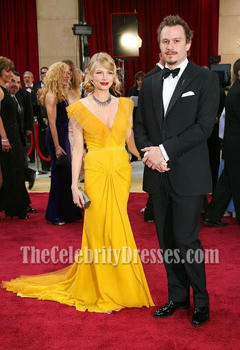 Michelle Williams yellow dress knockoff