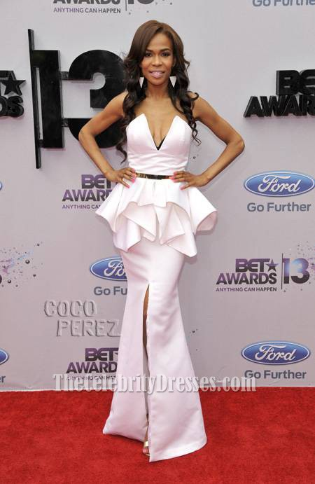 Michelle Williams White Formal Dress BET Awards 2013 Red ... K Michelle 2013 Bet Awards