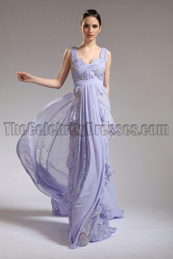 Mila Kunis lavender dress designer