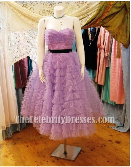 Miley Cyrus Purple Dress From The Last Song Strapless Prom