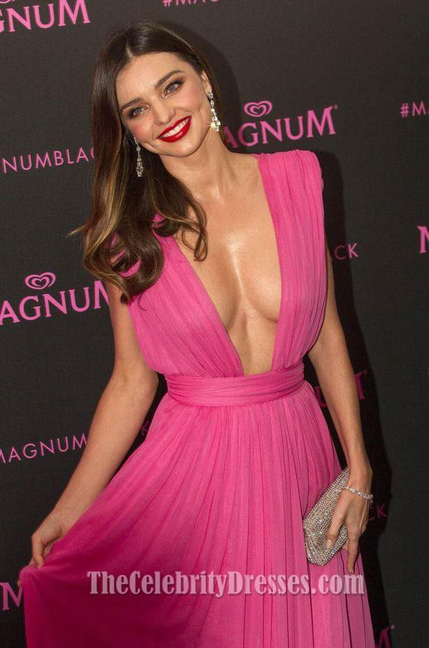 Miranda Kerr Pink Evening Dress Magnum Pink And Black