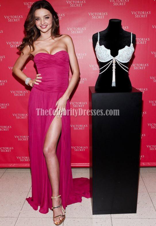Miranda Kerr Strapless Prom Dress Evening Gown Unveils Victoria\'s ...