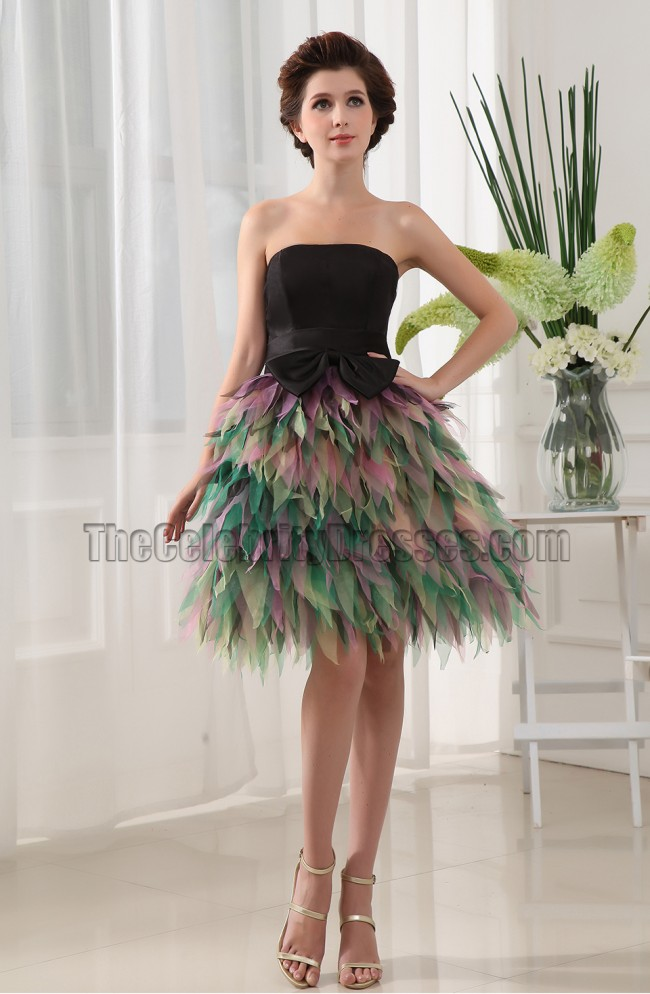 Chic Strapless Cocktail Graduation Party Homecoming