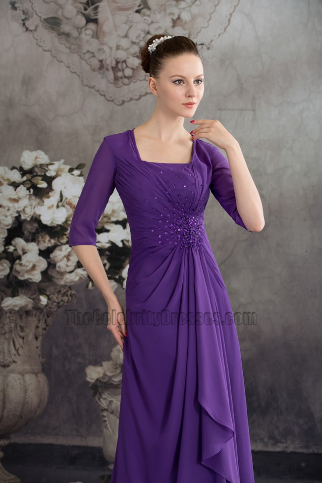 New Style Regency Chiffon A Line Bridesmaid Prom Dresses
