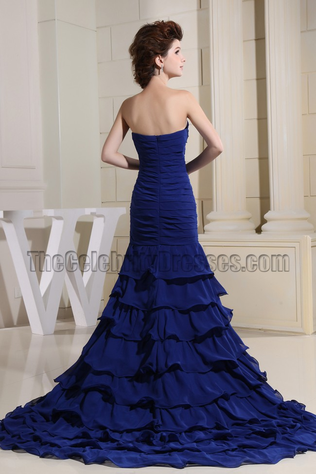 Dark Royal Blue Mermaid Prom Formal Evening Dresses Alt