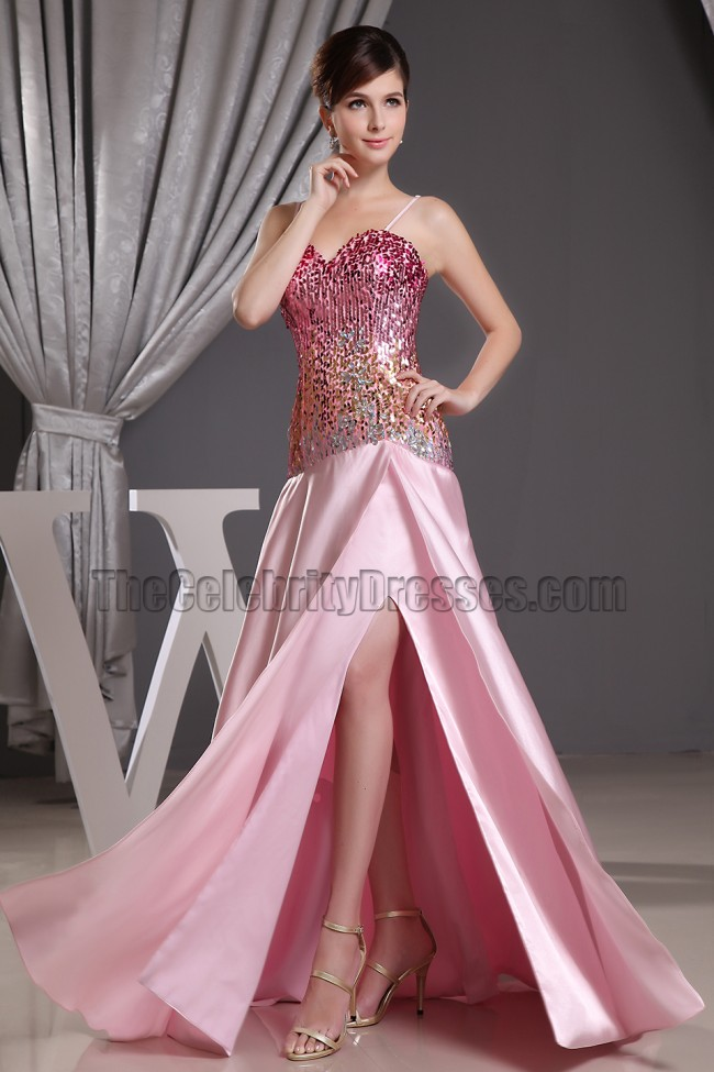 Sequined Sweetheart Prom Dress Evening Formal Dresses ...
