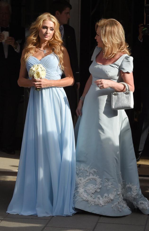 Paris Hilton Sky Blue Evening Bridesmaid Dress on Nicky\'s wedding ...