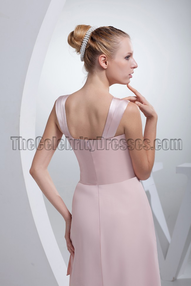 Pink Floor Length Mother of the Bride Dresses