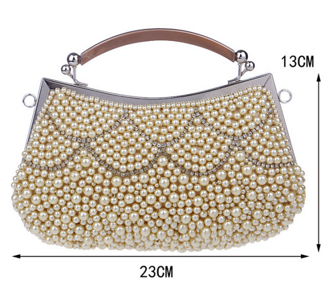 New Fashion Dress Pearl Clutch Evening Party Bags ...