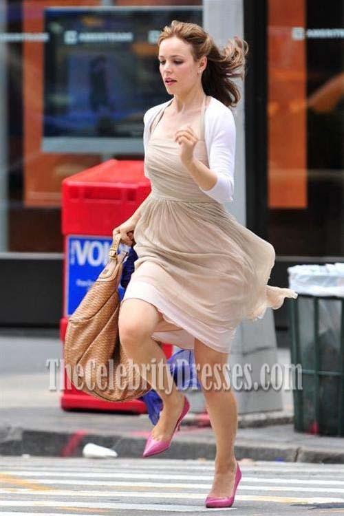Rachel Mcadams Champagne Halter Dress In Morning Glory