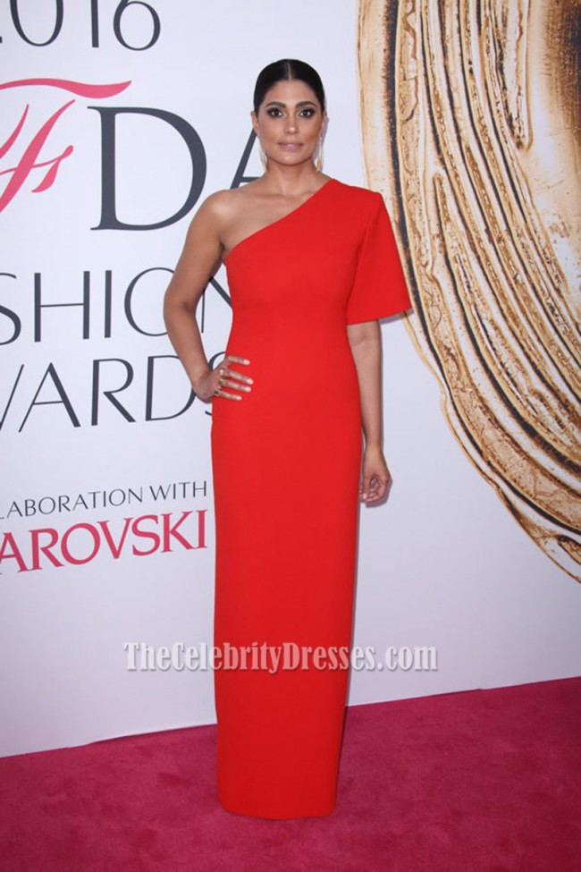 Rachel Roy Red One-shoulder Evening Prom Gown Celebrity Dress CFDA ...