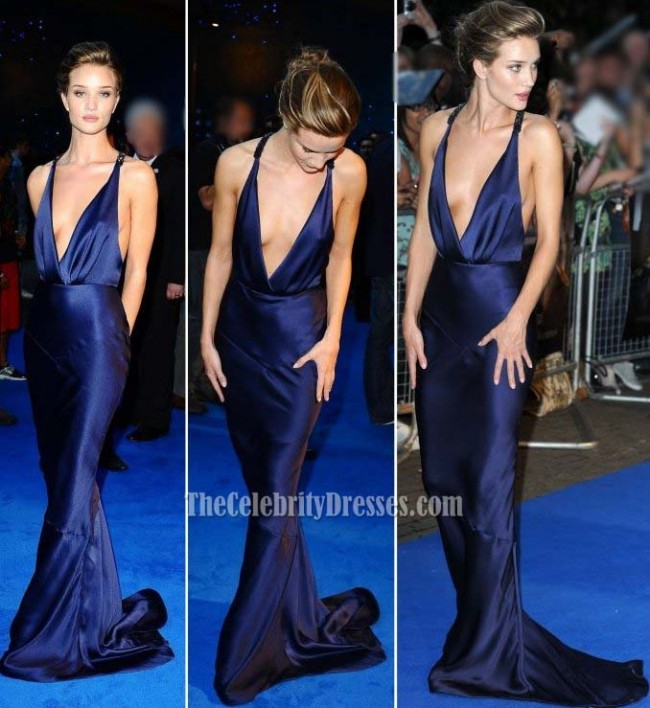 Rosie Huntington Whiteley Sexy Prom Dress Formal Evening