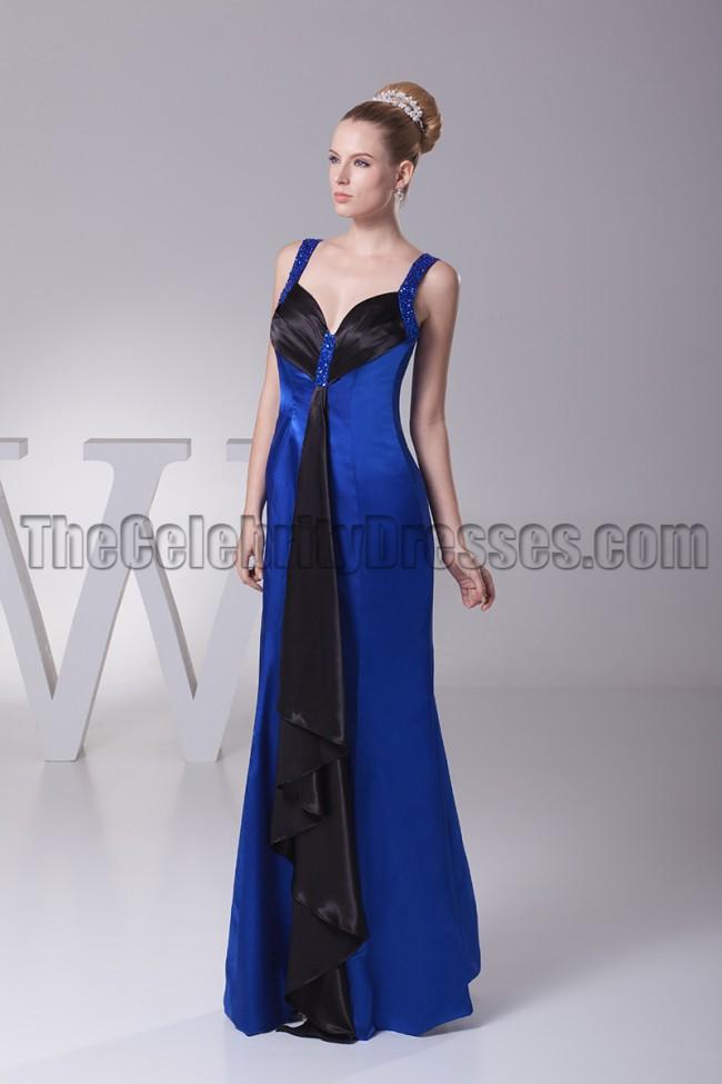 Blue and Black Evening Dress