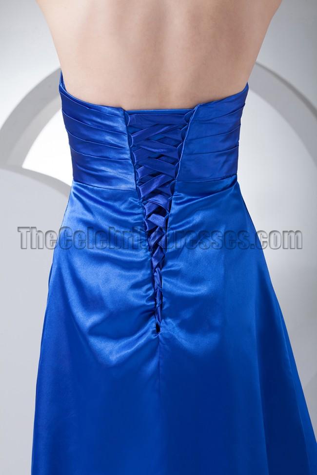 238e75cc630e Discount Royal Blue Halter Cocktail Bridesmaid Dresses ...
