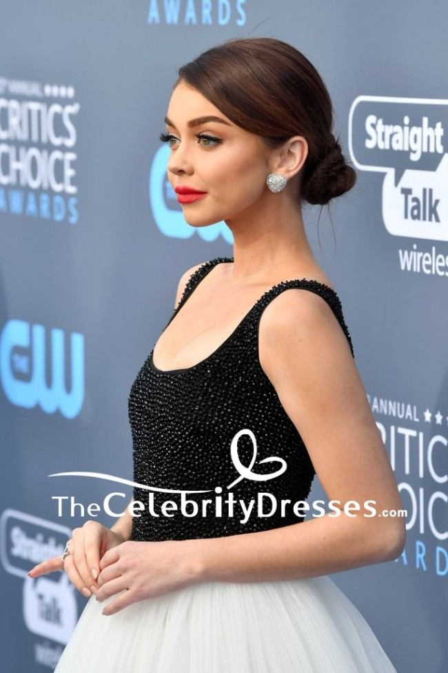Sarah Hyland Two Tone Beaded Tulle Prom Dress 2018 Critics