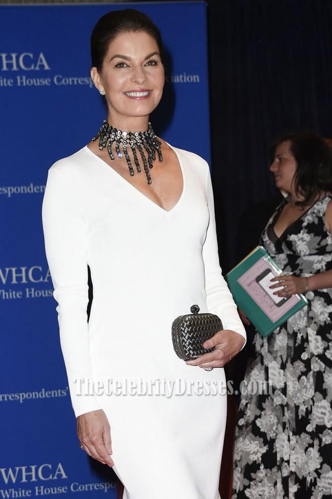 Sela Ward White Asymmetrical Formal Evening Dress 2016