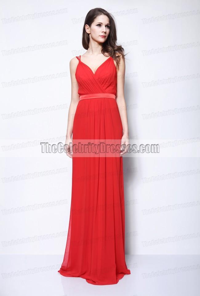 d5a573c87d2 Selena Gomez Red Chiffon Evening Formal Dress 2011 Oscars -  TheCelebrityDresses