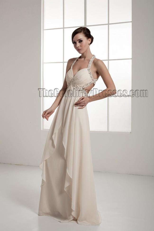 Sexy backless beaded chiffon informal wedding dresses for Backless chiffon wedding dress