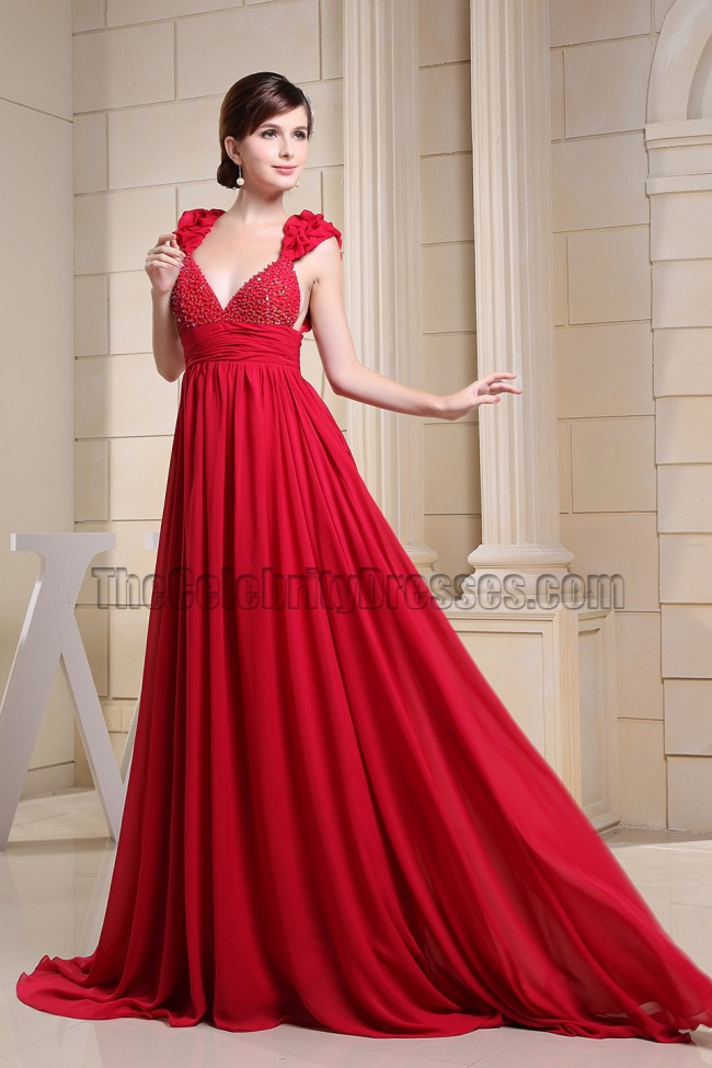 Red Chiffon Gowns