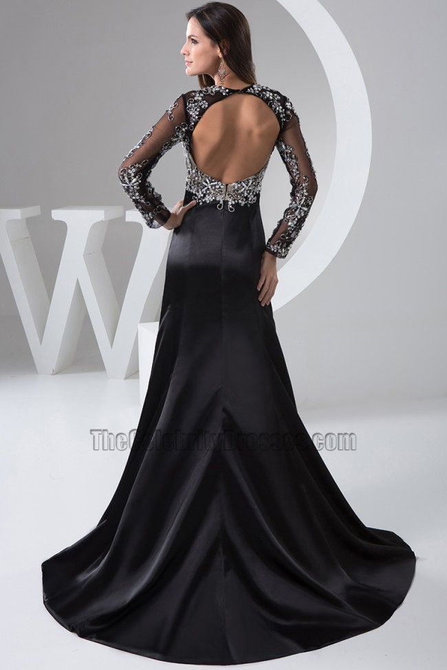 fdff1b1216f5 Sexy Black Long Sleeve Formal Dress Evening Gown - TheCelebrityDresses