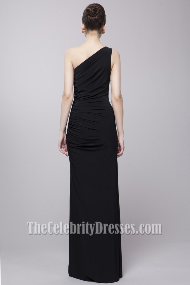 Sexy Black One Shoulder Evening Gown Prom Dresses Thecelebritydresses