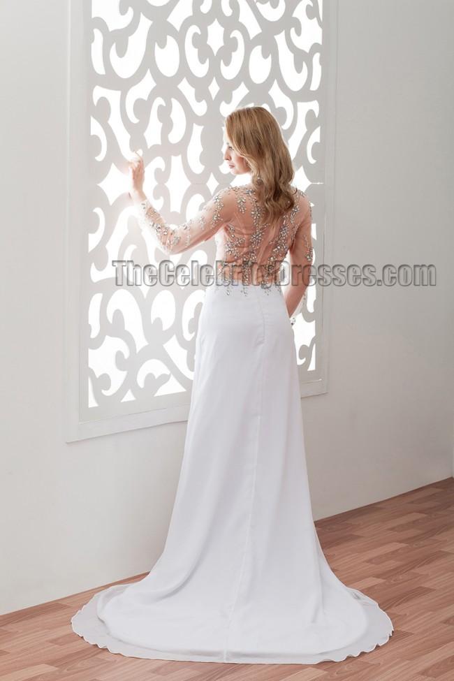 Tsbridal Sexy Lace Mermaid Wedding Dress See Through