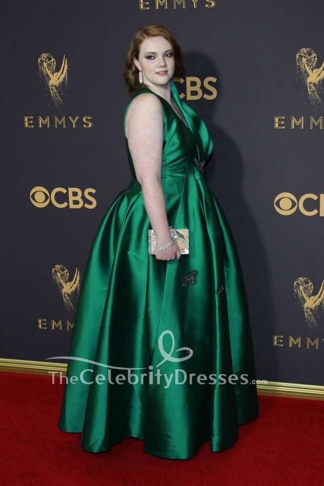 f36ee242458 Shannon Purser Hunter Plus Size Taffeta Ball Gown 2017 Emmy Awards Red  Carpet · alt