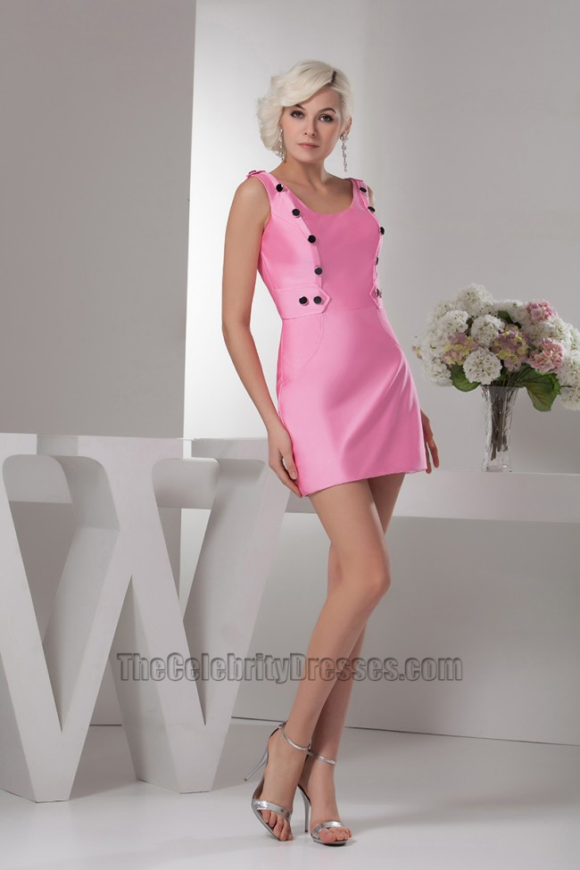 Hot Pink Mini Party Graduation Homecoming Dresses
