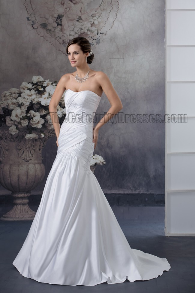 Simple Strapless Sweetheart Trumpet/ Mermaid Wedding Dresses ...