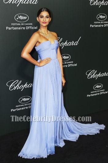 d95de975579 Sonam Kapoor Lavender Evening Prom Dress Chopard backstage party Dresses -  TheCelebrityDresses