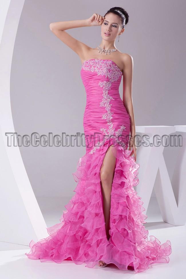 9a36d87e2a2c1 Fuchsia Strapless Mermaid Formal Dress Evening Gown ...
