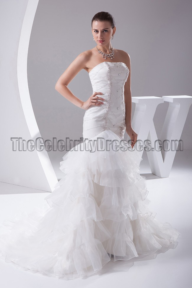 strapless mermaid wedding dresses beaded strapless mermaid wedding dress bridal gown 7720