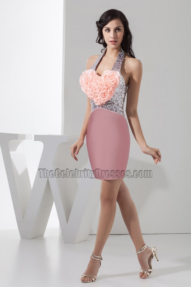 Stunning Short Halter Party Homecoming Cocktail Dresses ...