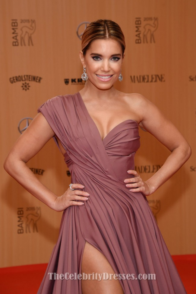 Sylvie Meis One Shoulder Formal Dress 2015 Bambi Awards