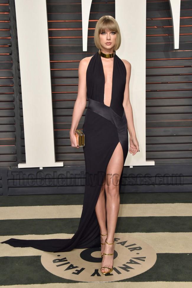 a54a4e38b8 Taylor Swift 2016 Vanity Fair Oscar Party Dress Red Carpet Evening Dress