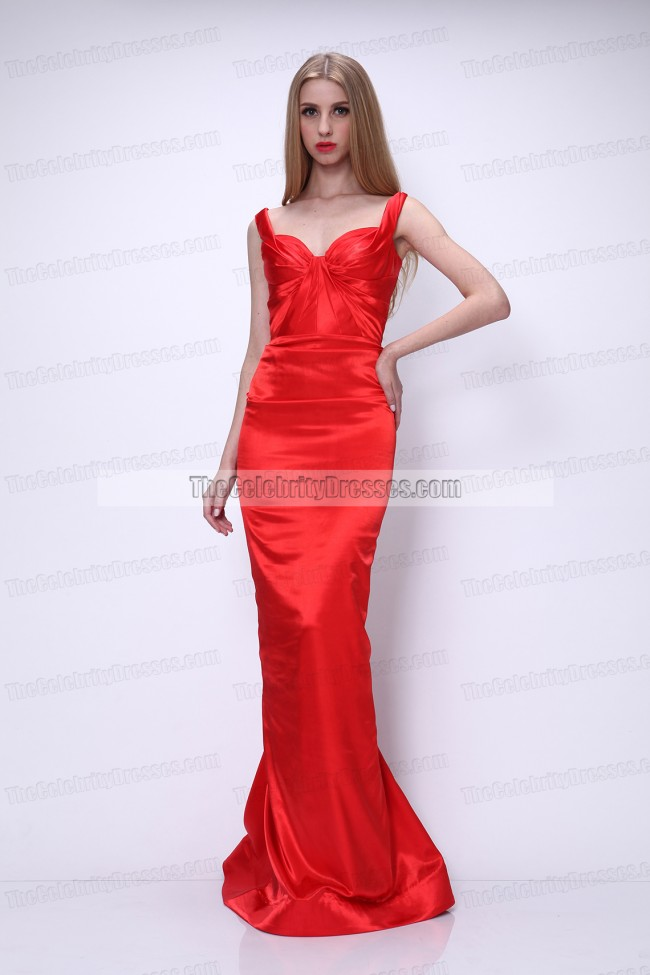 Dita Von Teese Red Carpet Red Prom Gown Formal Evening Dress ...