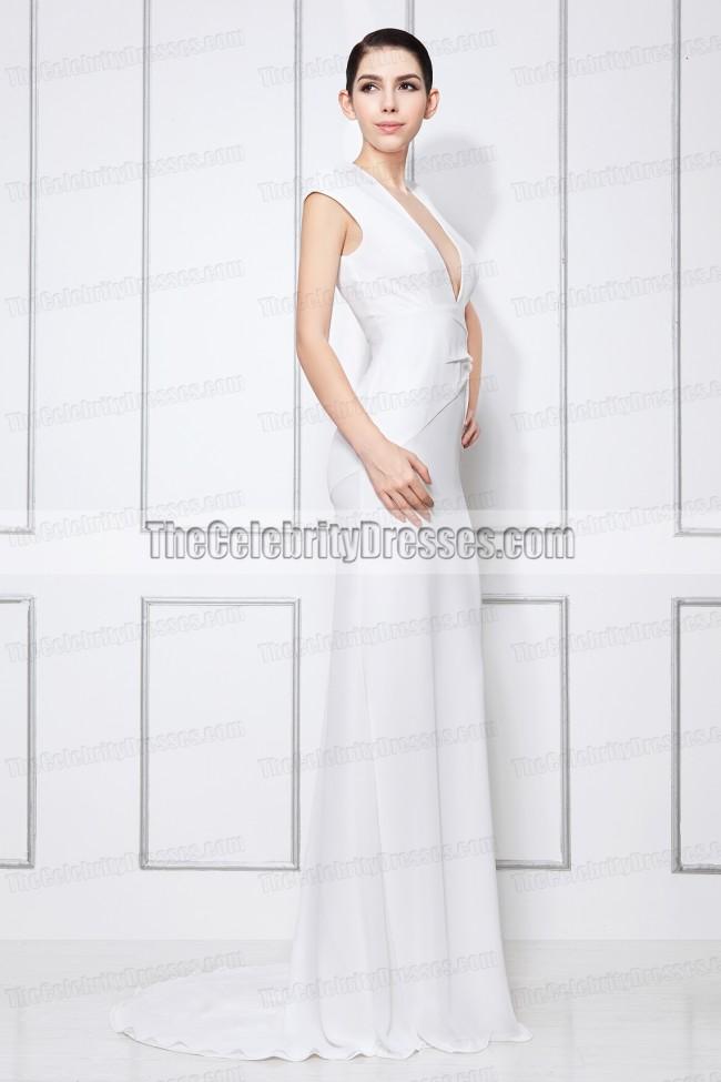 Taylor Swift White V-Neck Prom Dress 2013 People\'s Choice Awards ...