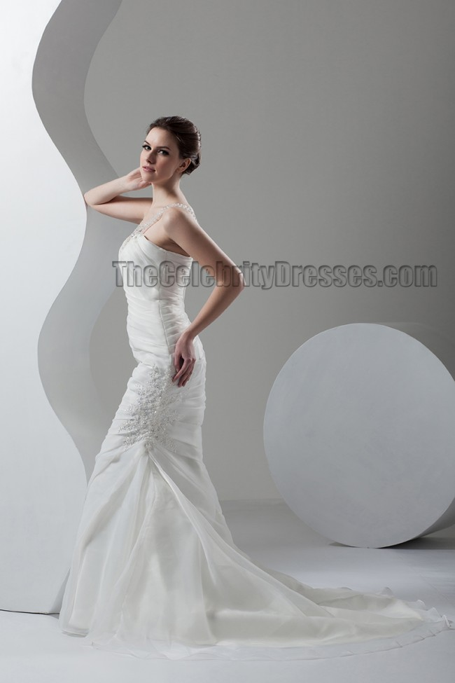 Mermaid Wedding Dress Train : Trumpet mermaid sweep brush train bridal gown wedding