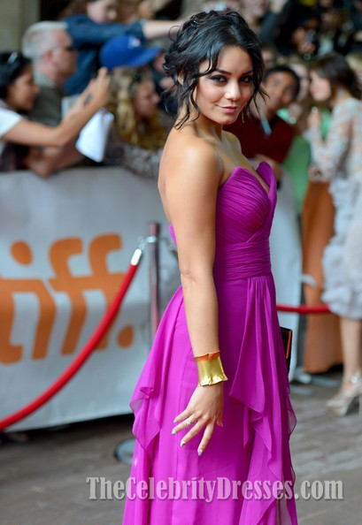 Vanessa Hudgens Fuchsia Dress Toronto Film Festival Red Carpet