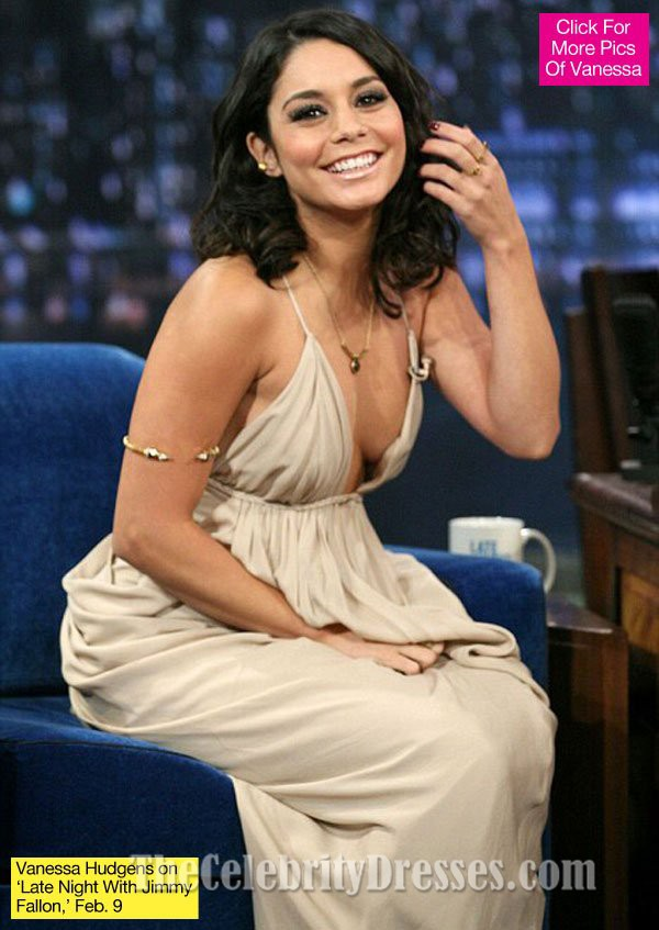 Vanessa Hudgens Sexy Backless Prom Dress Fallon Interview