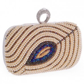 Women Evening Bag Fashion Pearl Clutch Handbag Beading Party Purse TCDBG0137