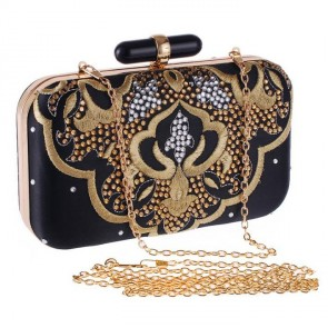New Fashion Studded Clutch Bag Women Embroidery Evening Bag TCDBG0141