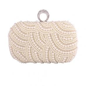 New Pearl Evening Bag Bride Clutch Women Party Mini Handbag  4