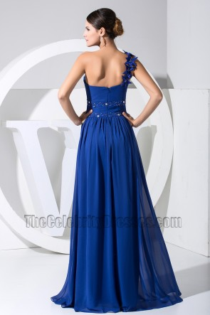 Royal Blue One Shoulder Formal Dress Prom Evening Dresses