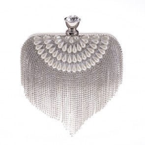 Women's Fashion Tassel and Imitation Pearl Handmade Evening Mini Bag TCDBG0114